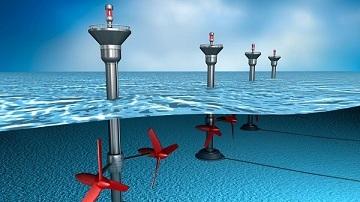 tidal energy is generated by underwater turbines