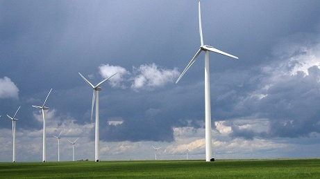 wind turbines help to capture wind energy