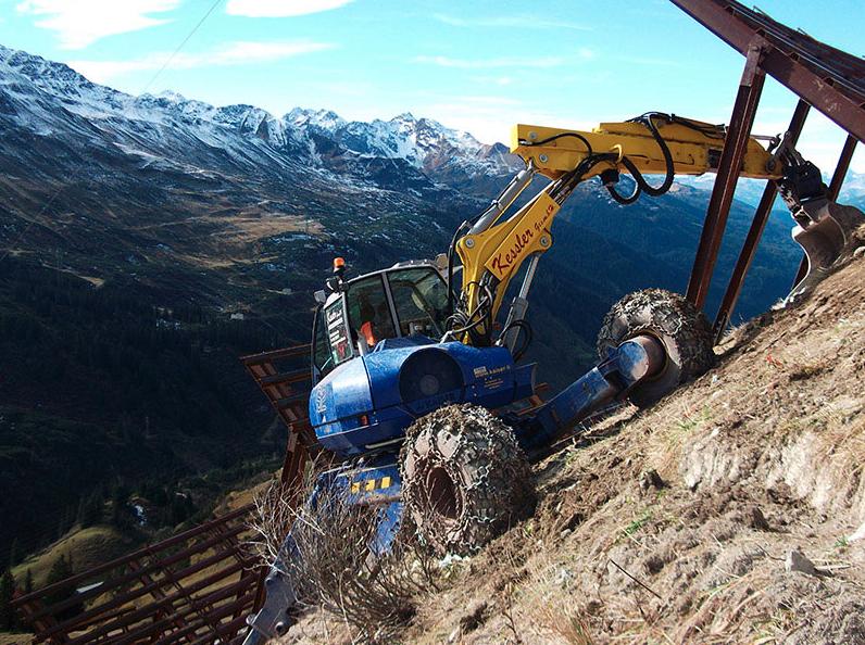 machine on mountain