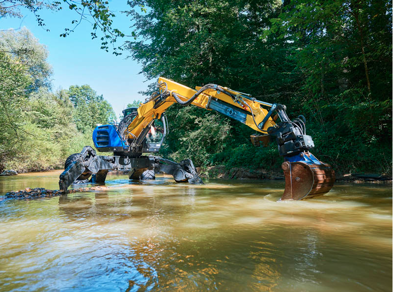 machine swimming