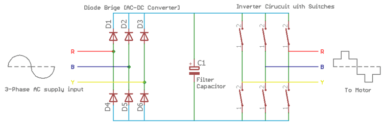 variable-frequency-drive circuit diagram