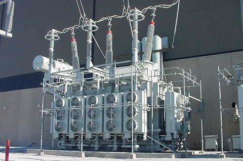 Transformers at the generating stations