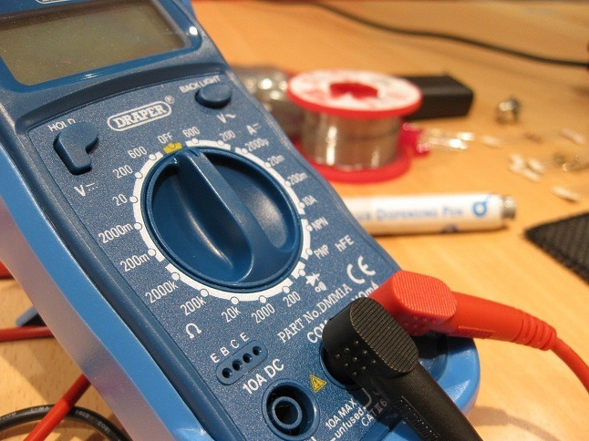 Multimeter for electrical testing